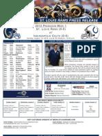 Rams COlts preseason game 1 2012
