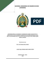 DAÑO CAUSADO POR LAS TERMITAS EN EL FUSTE DE ARBOLES CANDIDATOS DE CASTAÑA (Bertholletia excelsa HBK.) Madre de Dios Perú