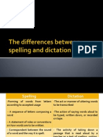 The Differences Between Spelling and Dictation