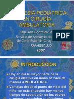 19 Anestesia Ambulatoria en Pediatria