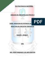 Trabajo Medicion d Potencia en Circuitos Trifasicos
