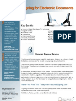 Digital Signature Solution by Secured Signing