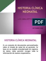 Historia Clinica Neonatal