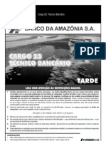 Cespe 2010 Banco Da Amazonia Tecnico Bancario Prova11