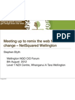 Meeting up to remix the web for social change - NetSquared Wellington presentation