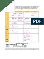 SemesterII Class Timetable