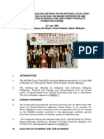 Report of the Inaugural Meeting on the National Focal Point for Asean Cocoa Club