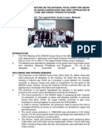 Report of the 5th Meeting on the National Focal Point for Asean Cocoa Club
