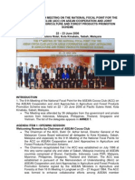 Report of the 9th Meeting on the National Focal Point for the Asean Cocoa Club