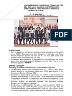 Report of the 11th Meeting on the National Focal Point for the Asean Cocoa Club