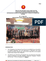 Report of the 15th Meeting on the National Focal Point for the Asean Cocoa Club