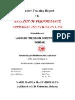 Performance Appraisl