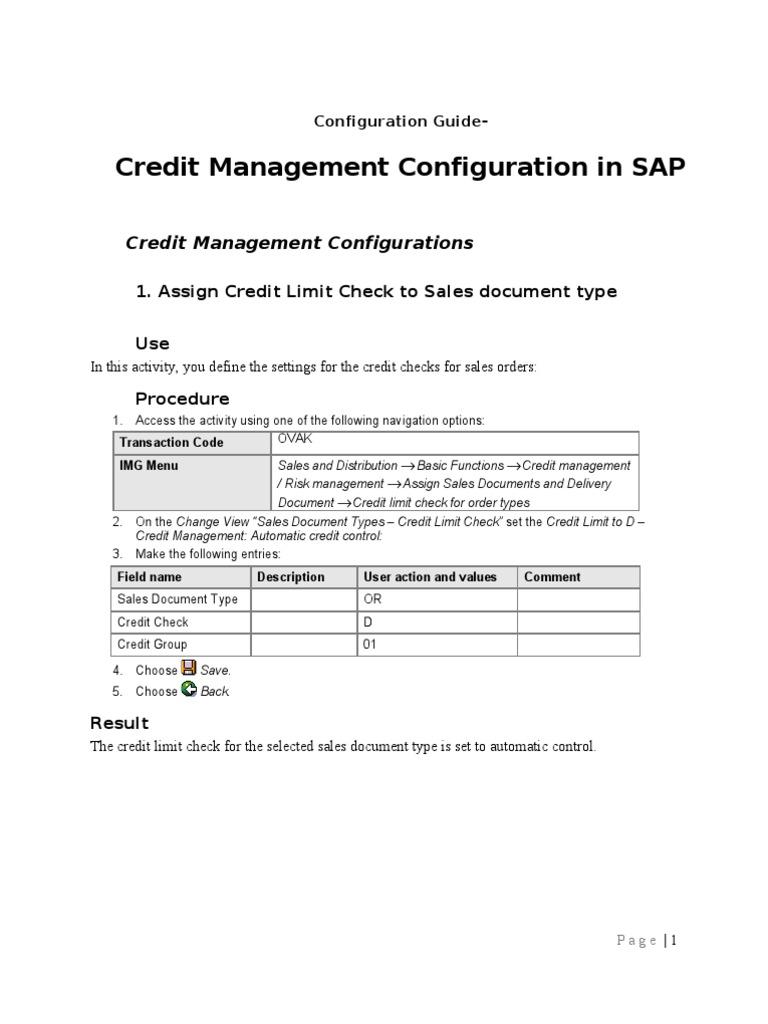 sap credit management configuration technology computing rh fr scribd com SAP FSCM SAP FSCM