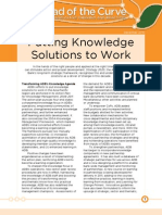 Putting Knowledge Solutions to Work