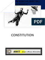 Constitution of All india Advani Memorial Basketball tournament (AIAMBT)