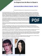 Acn No Ms Tm the Original Acne No More Tm eBook in Spanish Download-HTML