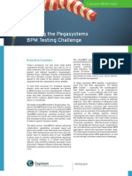 Meeting the Pegasystems BPM Testing Challange