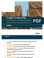 Sustainability of Freight Forwarding Fin