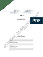 Nanoscale Devices MNT-204 UNIT-2