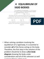 Chapter 4 Equilibrium of Rigid Bodies