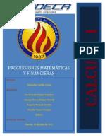 Investigación de Progresiones matemáticas y financieras