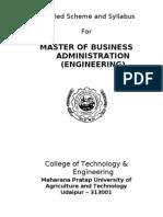MBA Scheme and Course Description - CTAE-2011-13
