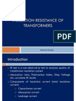 Insulation Resistance of power transformer