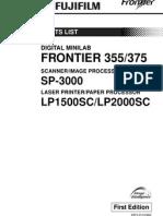 Fr355_375 Parts List