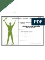 Certificate - Award