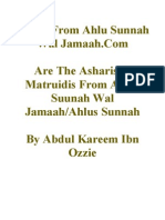 Are The Asharis & Matruidis From Ahlus Suunah Wal Jamaah/Ahlus Sunnah