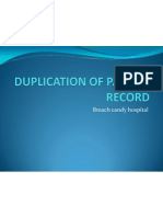 Duplication of Patient Record
