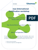 Thomas Profiling Certification Program based on DISC @ Marriott , Pune