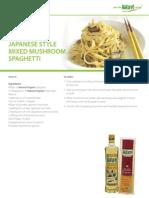 Jap Style Mixed Mushroom Pasta