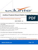 Andhra Pradesh Board Maths Sample Paper