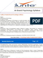 Andhra Pradesh Board Psychology Syllabus