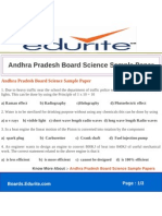 Andhra Pradesh Board Science Sample Paper