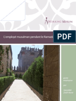 Ramadan Employer Guide French 2012