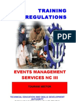 TR Events Mgt Services NC III
