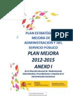 Plan Estratégico de Mejora de la Administración y el Servicio Público  2012-2015 (ANEXO I)