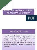 AULA IX - MANUTENÇÃO DE RH