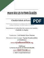 Précision sur les factions égarées Al Fawzan