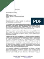 Carta dirigida al diputado Nelson Paz Anaya