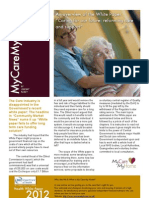 "An overview of the White Paper  "" Caring for our future- reforming care and support"""
