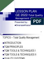 Handout Lesson Plan & Unit 1 Ge2022 Tqm