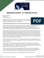 Depopulation 'is' the Big Plan