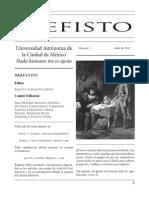 Revista de divulgación científica Mefisto No. 5