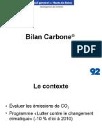 92 Bilan Carbone Hauts-De-Seine 2005