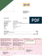 SIP Breitsch, Rechnung (Vorlage, CHF 100.-)