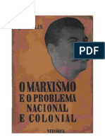 Apendice II - SÔBRE AS TAREFAS IMEDIATAS DO PARTIDO RELATIVAS AO PROBLEMA NACIONAL.