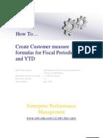 Create Customer Measure Formulaes